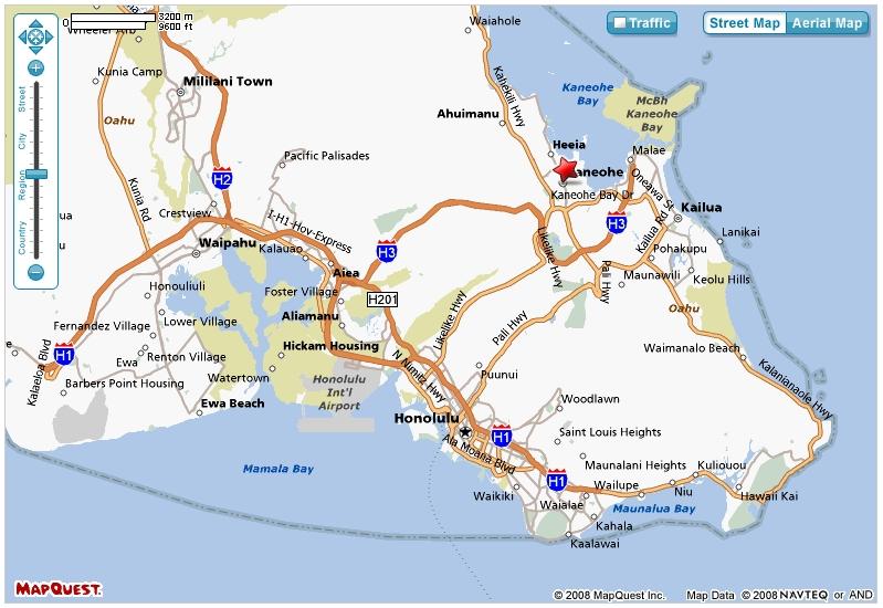 MapQuestOahuMap