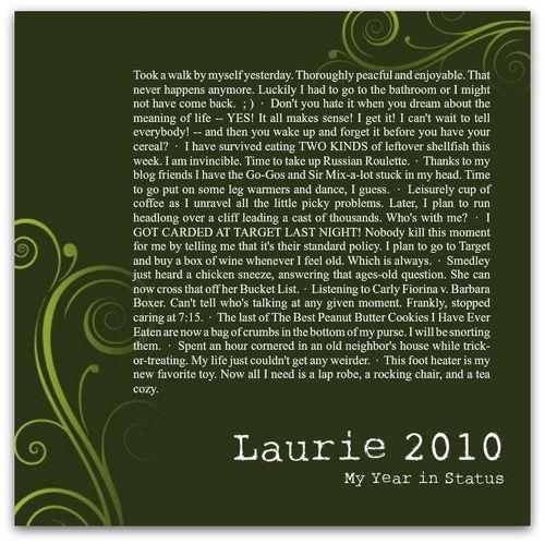 Laurie2010Status
