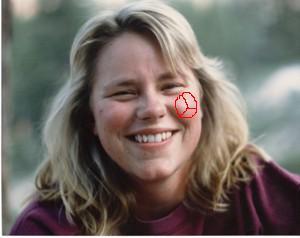 Cheryl_1990s_peace_sign